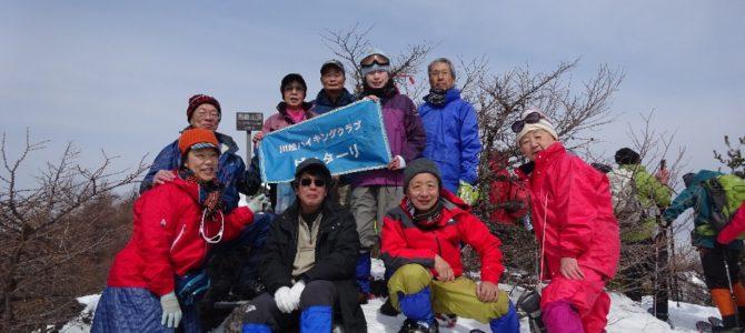 ゆる会山行・西部Bスノーシユーハイク:高峰高原(2,106m)