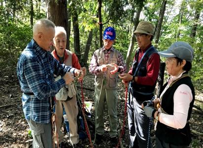 グループ山行:虎ケ岡城址(337m)ロープワーク訓練