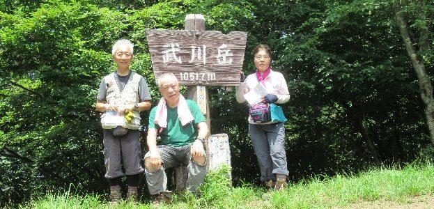 武川岳~二子山(夏山トレーニング山行)