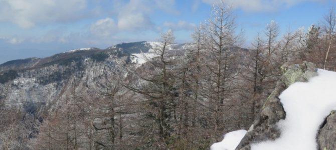 高峰山スノーシューハイク下見の報告